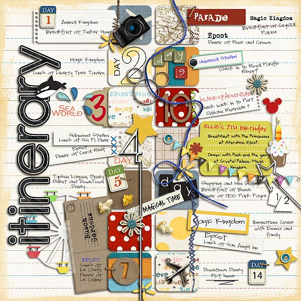 Itinerary MouseScrappers Disney Scrapbooking Gallery – Cruise Itinerary Template