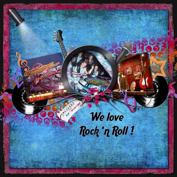We Love Rock N Roll Mousescrappers Disney Scrapbooking