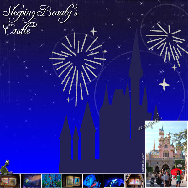 Sleeping Beauty's Castle - MouseScrappers com