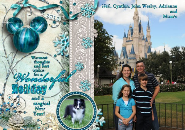 Anybody digiscrap Christmas Cards using Disney photos ...