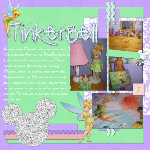 tinkerbell bedroom mousescrappers disney scrapbooking gallery