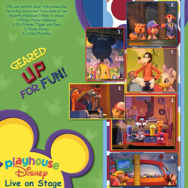 Playhouse Disney Live on Stage - MouseScrappers.com