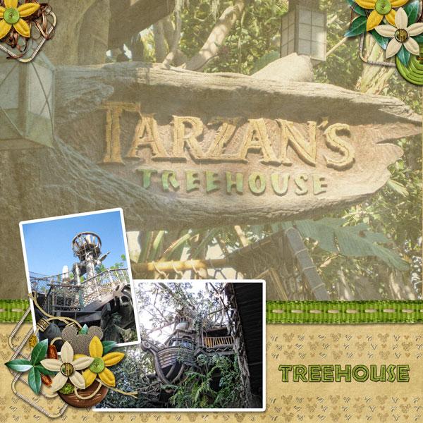 Lorrainas Art Gallery: A birdseye view of Tarzans treehouse
