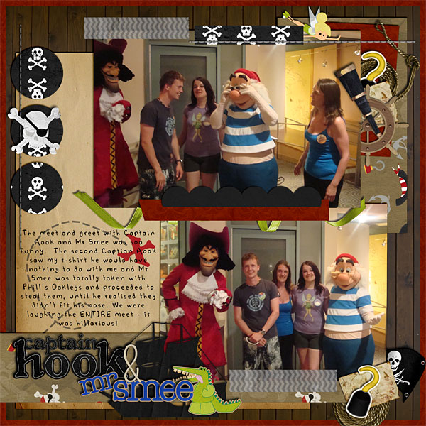 captain hook and mr smee mousescrappers disney scrapbooking gallery