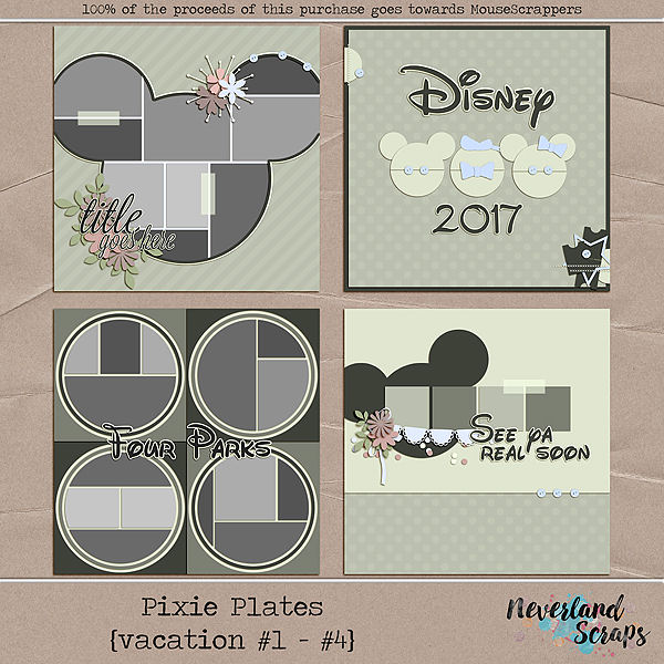 Pixie Plate {Vacations #1 - #4}