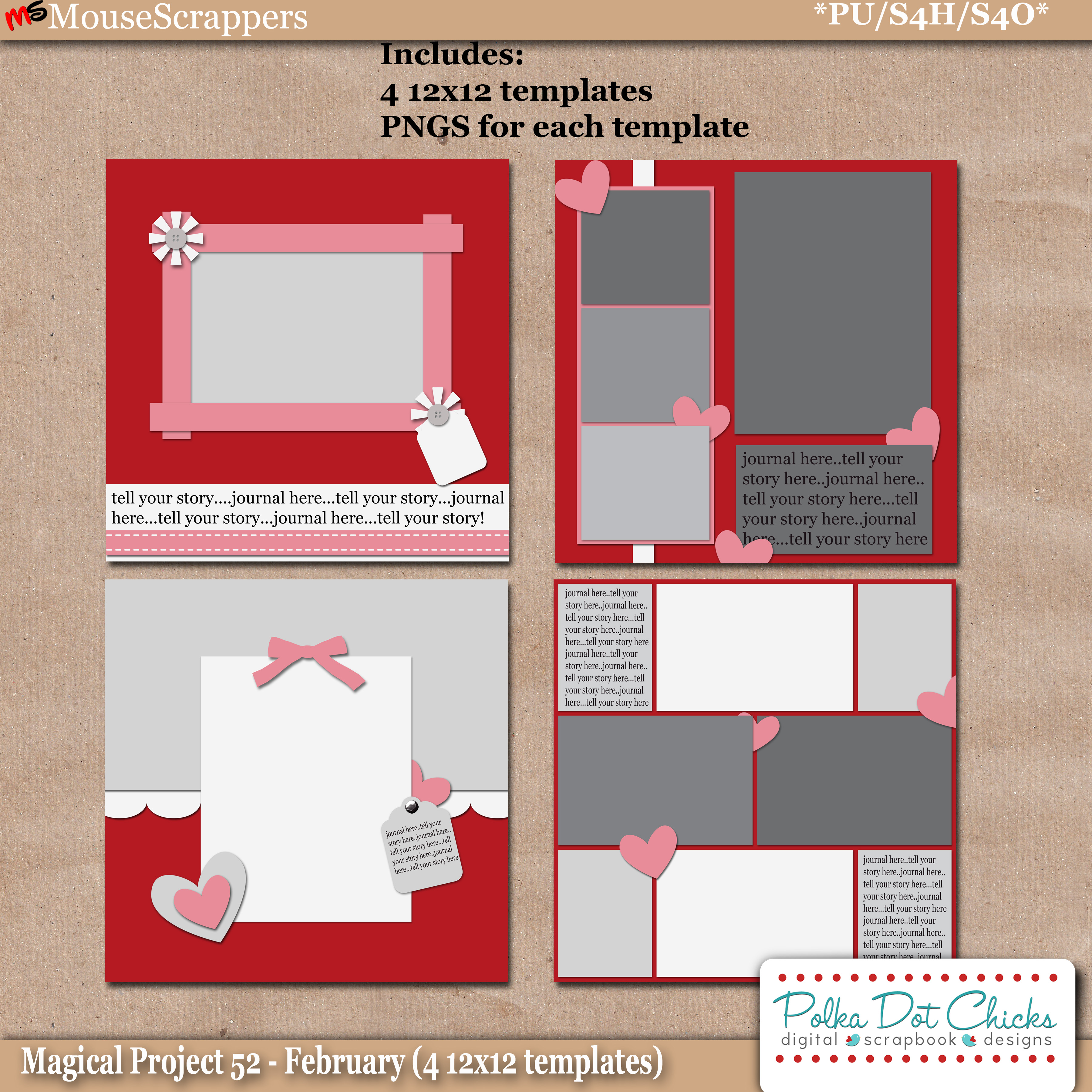 Magical Project 52 - February Templates