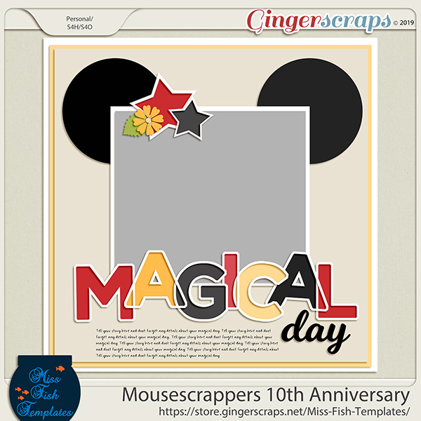 MouseScrappers 10th Anniversary - TEMPLATES