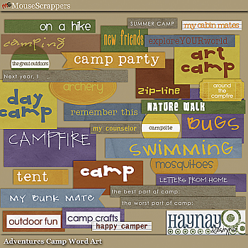 Adventures Camp Word Art by Haynay Designs