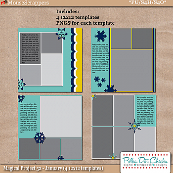 Magical Project 52 - January Templates by Polka Dot Chicks