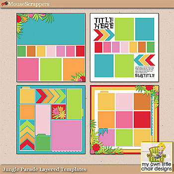 Jungle Parade Layered Templates