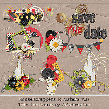 MouseScrappers 10th Anniversary - CLUSTERS V1