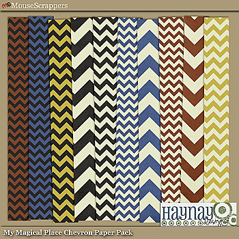 My Magical Place Chevron Paper Pack by Haynay Designs