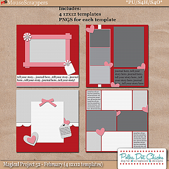 Magical Project 52 - February Templates by Polka Dot Chicks