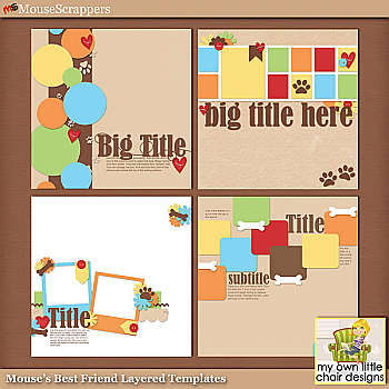 Mouse's Best Friend Layered Templates