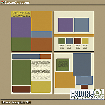 Boxes Template Set by Haynay Designs