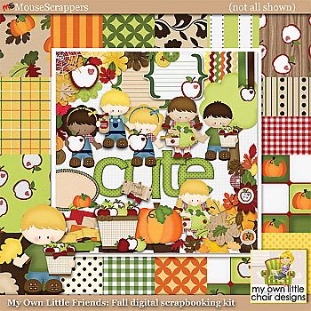 My Own Little Friends: Fall Digital Scrapbooking Kit