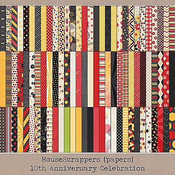 MouseScrappers 10th Anniversary - PAPERS