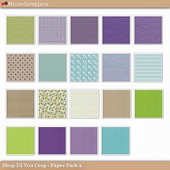 Shop til you Crop- Paper Pack 2