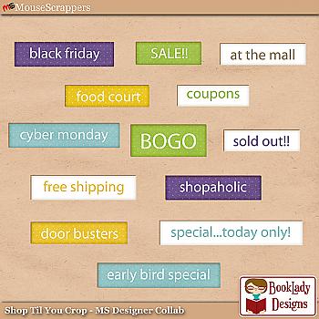 Shop til you Crop- Word Art Pack