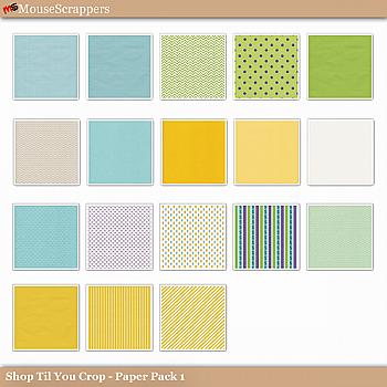 Shop til you Crop- Paper Pack 1