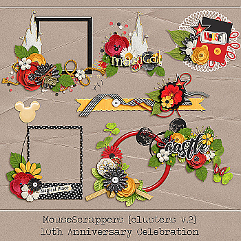 MouseScrappers 10th Anniversary - CLUSTERS V2