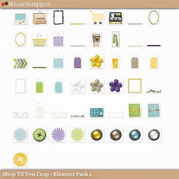 Shop til you Crop- Element Pack 1